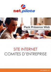 NetPilote : Pack Site Internet Comité d´Entreprise