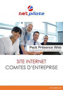 Présentation Pack Site Internet Comité Entreprise